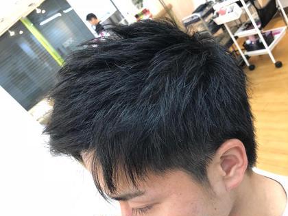 〇ツーブロック ○アップバング Hair&MakePOSH所属・杉本はるかのスタイル