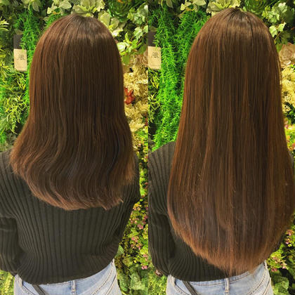 シールエクステ80枚☆毛先を少しカットして重めスタイル♪重めスタイルなので毛先ワンカールでも可愛いですよ(^^)  アプリ登録のお客様は仕上げの巻き髪無料サービス♪