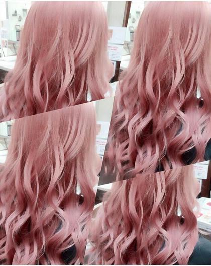 トリプルカラーからのピンク‼ なかなか出来ない色ですがこの機会に(^-^) Beauty studio  M.O.D所属・SEIYA(セイヤ)のスタイル