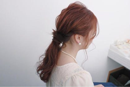 ベリーピンクでヘアアレンジ☆ MaLily所属・清水良平のスタイル