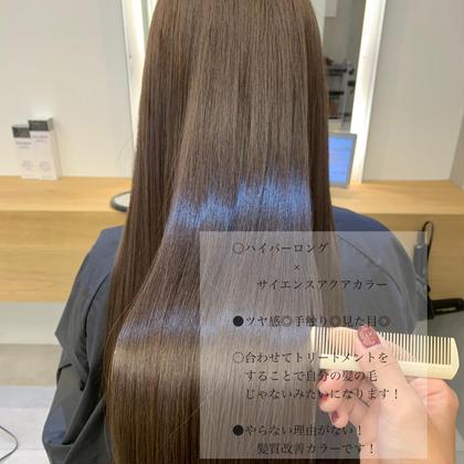 ♥︎🎡4月限定🎡髪質改善サイエンスアクアカラー+超音波2step treatmentで驚きの髪触りに🥰✨