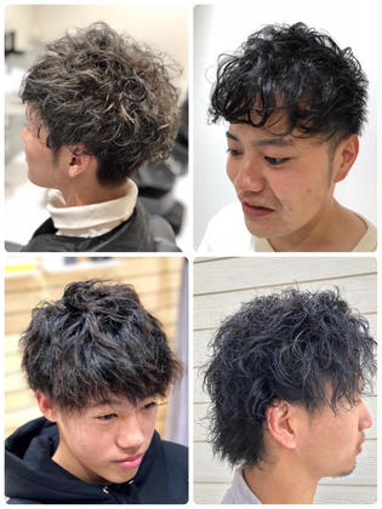 【👍思い通りにセットがキマる🎶】髪質・ハチ張りカバーメンズカット+3Dパーマ+炭酸スパ💇♂️
