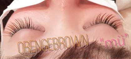 全体をオレンジブラウンで♪ ナチュラルで優しい目元になります♡ mu eyelash【ミュー】所属・n.kanaのフォト