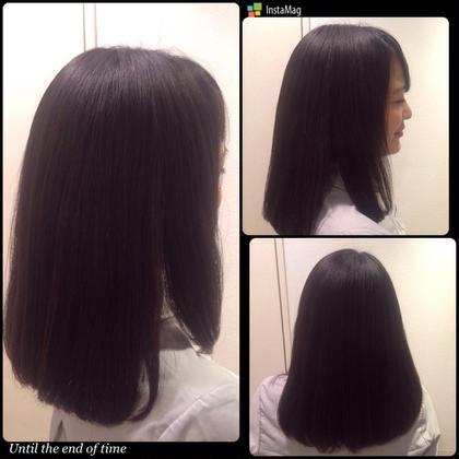 〜縮毛矯正〜 根元のみの毛先ワンカール くせ毛が治り綺麗な仕上がりに♡ hair Frais make所属・TakedaTsukasaのスタイル