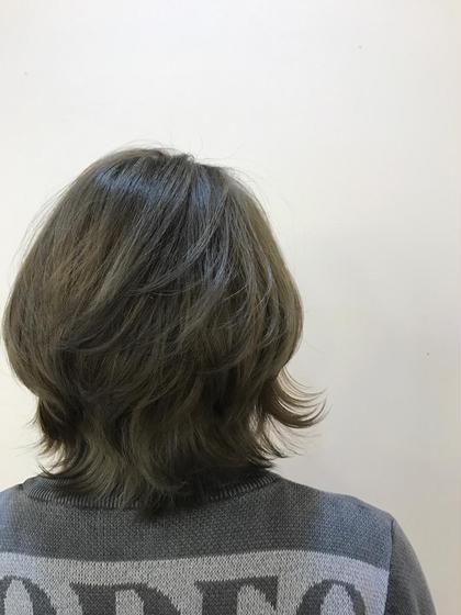 グレーパールの透け感カラー⭕️⭕️ e.m.a international所属・いわまりょうたのスタイル