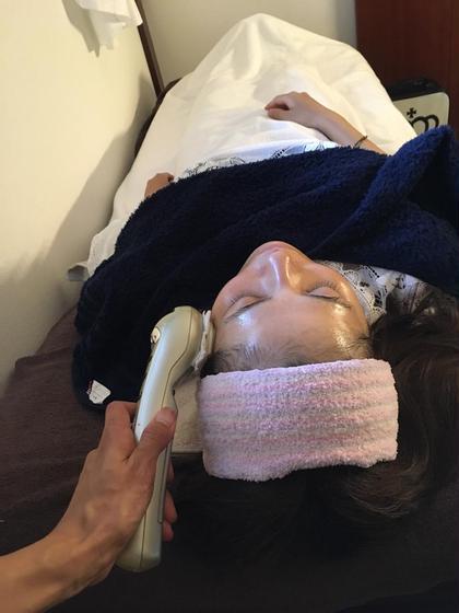 バイオウォーミーパック全部お手伝い込み  お顔ベッド施術