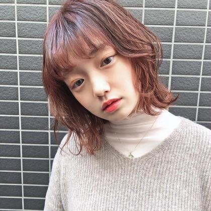 🍊【学割U24】前髪カット+カラー