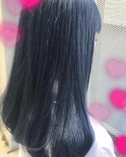 ブリーチはしておりません❤️ネイビー♡ 関口三都季のヘアカラーカタログ