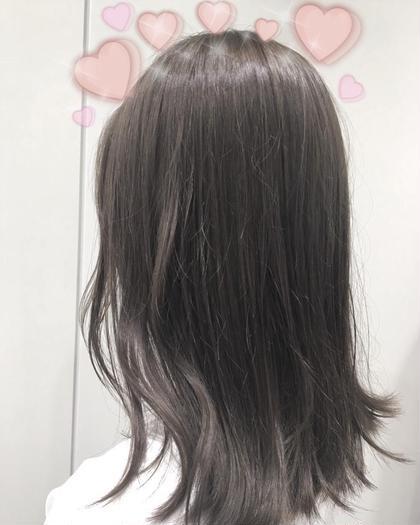 ブリーチなし♡バイオレットグレー(^^)❤️ 関口三都季のヘアスタイル・ヘアカタログ
