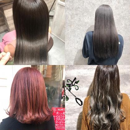 【‼️髪の傷みが気になる方必見‼️】全体カラー+TOKIOトリートメント💖イルミナもアディクシーも追加料金ナシ✨✨