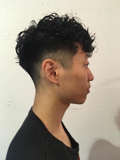 刈り上げを高くしても頭の丸みを綺麗に出します