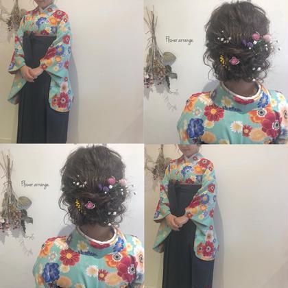 【ミニモ春きゅん】卒業式&卒園式袴着付けとヘアアレンジ(  ◍•㉦•◍ )♡