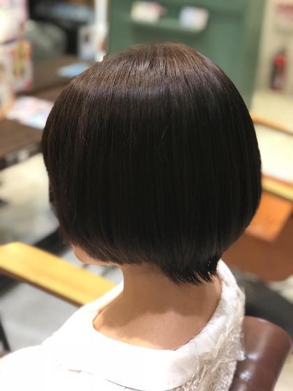 ✨似あわせカット+ツヤカラーリング+トリートメント✨ 造型剪发和光泽染发和营养焗油