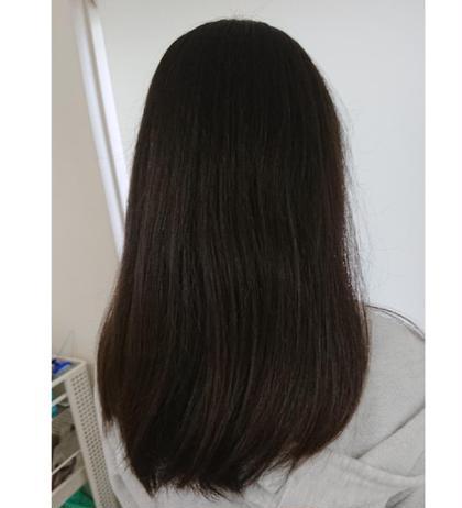 小学六年生の子のカットです 長さを5センチ程度切ってほしいとのことだったので 長さを整えてまとまりやすいように少しだけ表面の毛を長めに残しました コアフェール田上所属・谷古宇潤のスタイル