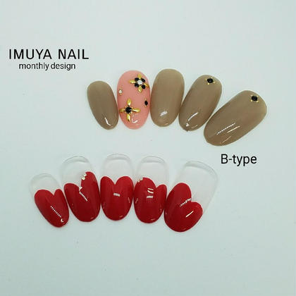 1月定額キャンペーンネイル B-type ¥6,500(オフ込) ネイル&脱毛サロン imuya nail所属・ネイル&脱毛サロンimuya nailのフォト