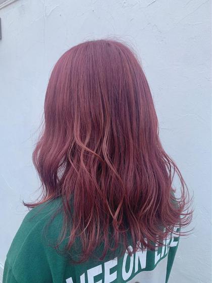 カラー ロング チェリーピンク