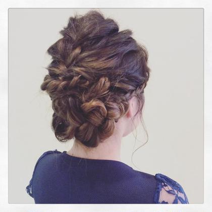 ゆるふわ編み込みヘアセット♡ とても人気な、ゆるかわなスタイルです! efil lavie所属・Chikaチカのスタイル