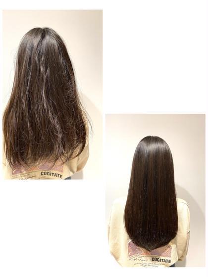 ⚠️髪質で悩まれている方必見⚠️☂️くせ毛対策☂️カット & 髪質改善ツヤツヤストレート&トリートメント(ポイント縮毛)