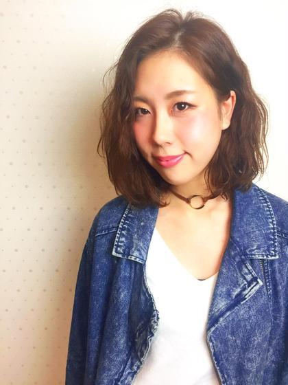 伸ばしかけの髪にもお手入れ簡単なパーマを☆  最小限のダメージに抑えます!!! FOCUS所属・熊谷甚之介のスタイル