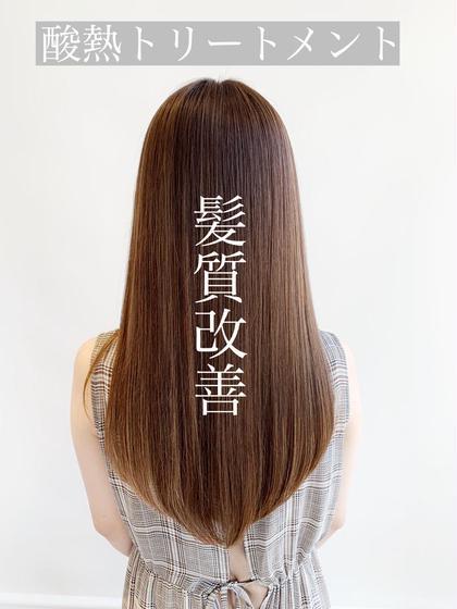 これ、ほんとに凄い。💝カット+髪質改善酸熱トリートメントエステ💝 業界初❤️トリートメント以上、縮毛矯正未満