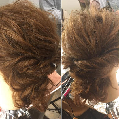 セミロング ヘアアレンジ ミディアム ロング ルーズなまとめ髪