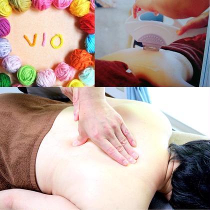 【女性初回限定】VIO脱毛+アロマオイル100分7800円※担当は男性