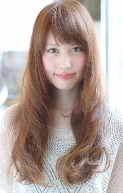 カラー セミロング パーマ ミディアム ロング 大人可愛いひし形ロング☆
