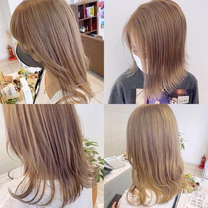 【🦋黒髪卒業式🦋】メンテナンスカット+ダメージ94%カットブリーチ(ケアブリーチ)+透明感カラー+hTR