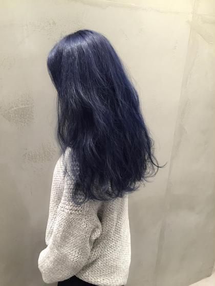 ネイビーブルー  ラベンダー多めに、色落ちも綺麗です Spica所属・ハギワラマリエのスタイル