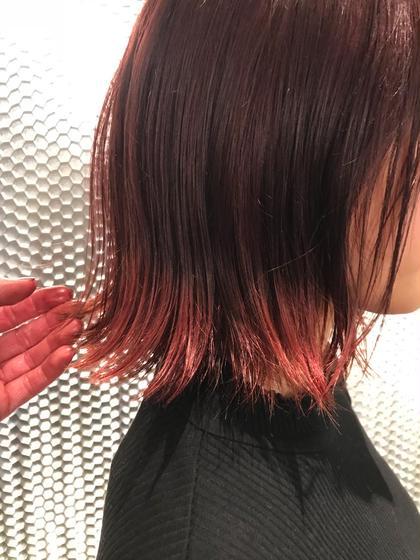 ピンクブラウン × ウォームピンク  裾カラーでアクセント! (ブリーチ1回〜) so.所属・ブリーチ指名No.1💫久保山翔のスタイル