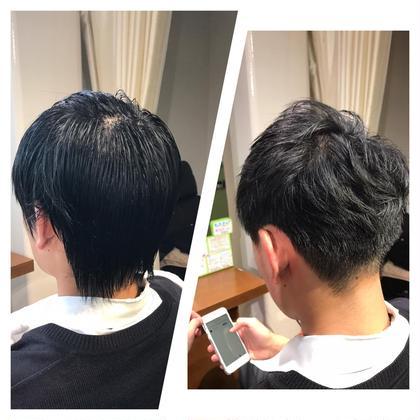 バックの重さを残して頭の形を良く見せています。 全体的に動きの出るようにしています。 hair Trees武蔵小杉店所属・清水大樹のスタイル