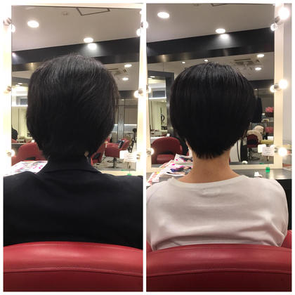 ショート Before→after