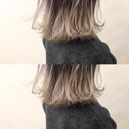 ナチュラルグラデーション☀️巻き髪がさらにcuteに❣️