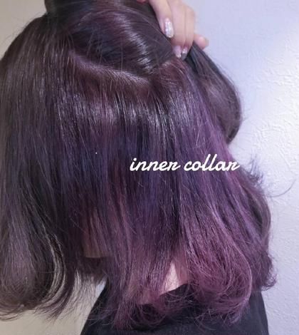 イヤリングカラー+オンカラー+フェルエトリートメント+ご希望で前髪カット