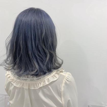 🌊【色持ち1ヶ月】🌊ブルーカラー+髪質改善トリートメント🌊✨