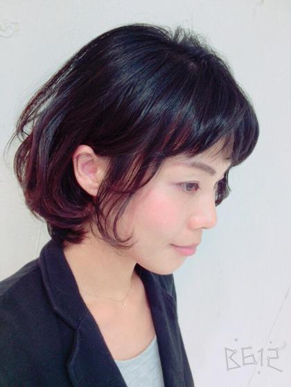 動きのあるボブスタイル♡ 顔周りともみあげの毛をニュアンスで少し出すとオシャレです♡  ZA/ZA所属・maikasuzukiのスタイル