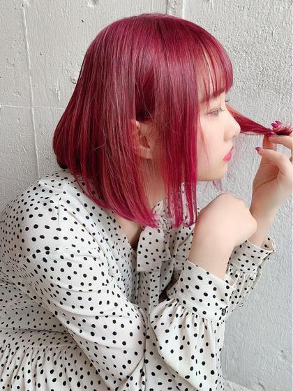 🎀丸々ガラッと💓髪色チェンジ🎀ダブルカラー(全頭ブリーチ+オンカラー)+トリートメント 🎀