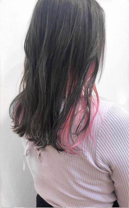 【新生活応援🌸期間限定】大人気❣️インナーカラー+全体カラー+前髪カット💐