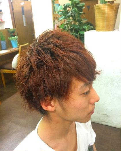 イケてるメンズカット☆ 一瞬重めですが、毛先は軽くしており 動き自由、流れあるスタイルです! ing's hair所属・生水貴行のスタイル