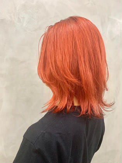 赤もピンクもオレンジも全部やりたい! わがままオレンジ🍊 #オレンジ#カラー
