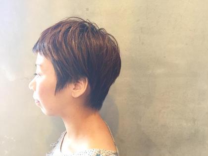 前髪も短く個性的ショートスタイルです!  Hair Musee所属・服部亜由美のスタイル