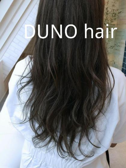 グレージュで透明感抜群のカラー☆ 大島光平のセミロングのヘアスタイル