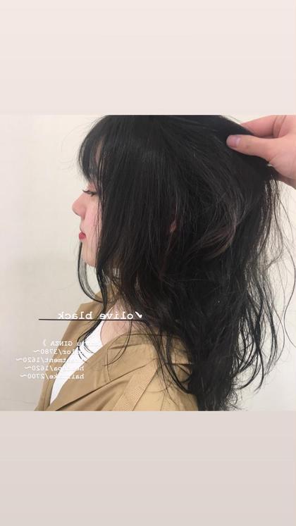 カラー&《前髪カットor眉カット》