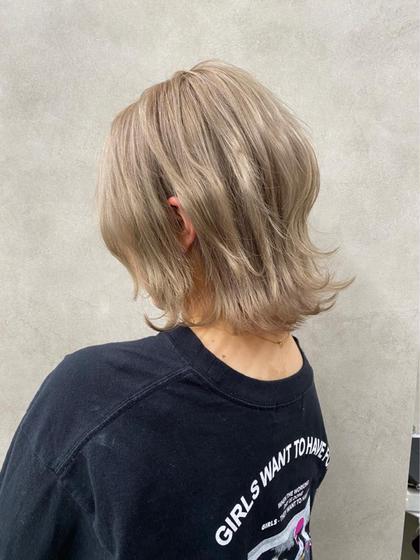 🌟ハイトーン女子🌟💜似合わせカット+ブリーチカラー+炭酸spa+オリジナルトリートメント+お出かけコテ巻き💜💜