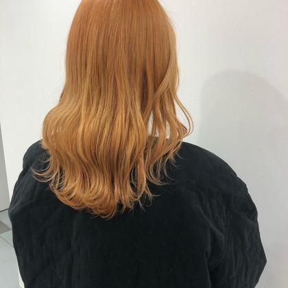 🦢ブリーチオンカラー+髪質改善トリートメント