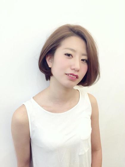 ワンレンボブで大人お洒落な髪型に♡ Swing西新店所属・スタイリスト 割石奈保子のスタイル