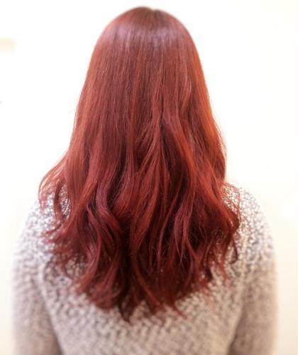 ロング✖️赤髪  鮮やかな赤!!! BLANCO所属・あおしまる。のスタイル