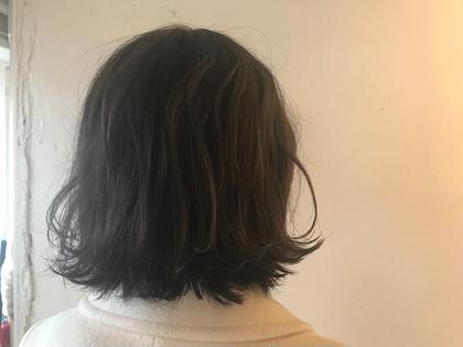 ワンカラーでも透け感のあるグレージュに、、、♡ LuTa所属・村松美穂のスタイル