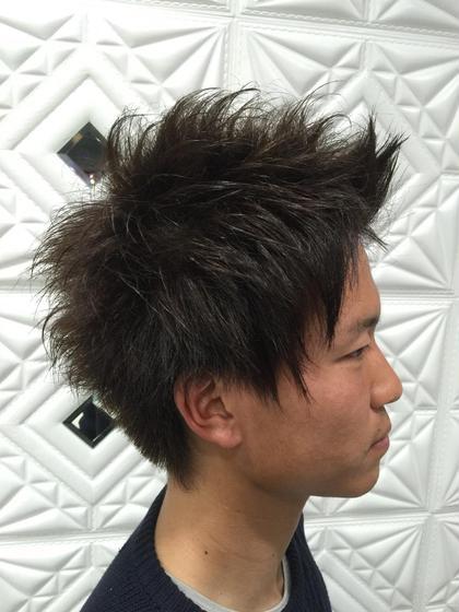 アップバングメンズショート Lumie所属・スタイリスト 佐々木祐希のスタイル