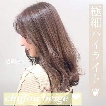 ❤️ミニモ限定❤️極細ハイライト+ハイ透明感カラー(コテ巻き仕上げ✨)
